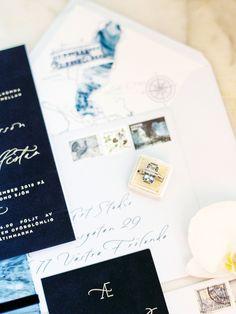 Navy and Gold Lake Como Wedding, bride, florals, b Destination Wedding Invitations, Vintage Wedding Invitations, Printable Wedding Invitations, Wedding Stationery, Destination Weddings, Invites, Groom Wedding Pictures, Wedding Groom, Rustic Wedding