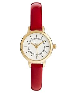 Image 1 of Olivia Burton Colour Crush Red Patent Watch