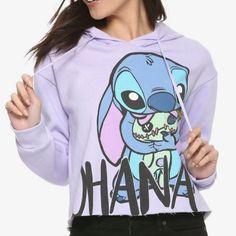 Disney lilo & stitch ohana girls crop hoodie size junior s Lilo And Stitch Hoodie, Lilo And Stitch Ohana, Stitch Sweatshirt, Stitch Shirt, Disney Shirts For Family, Shirts For Girls, Disney Outfits, Outfits For Teens, Cute Sweatshirts