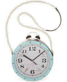 Betsey Johnson Clock Crossbody - Handbags & Accessories - Macy's