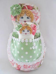Matryoshka Babushka doll, russian inspired nesting doll with baby by Our Shabby Cottage, via Flickr