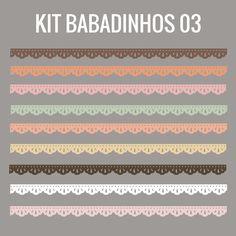 Kit de babadinhos e bordinhas grátis para baixar - Cantinho do blog
