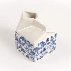 Pimpernel Milk Jug Genuine 'Handmade in Bristol' ceramics by Hanne Rysgaard at blaze