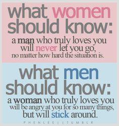 so true. True love never walks away....