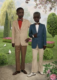 Galerie Wagner is proud to present for the first time works by Dutch artist Ruud van Empel at Pulse in Miami this December. Ruud van Empel's photographs have received world wide praise for exploring the human psyche with a keen dynamic style. African American Artist, American Artists, African Art, African Style, African Fashion, Kids Fashion, Arte Fashion, Black Artwork, Photoshop