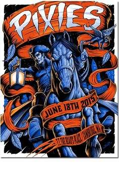 Pixies - silkscreen concert poster (click image for more detail) Artist: Brandon Heart Venue: T. The Bear's Place Location: Cambridge, MA Concert Date: Size: x Edition: signed
