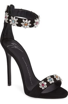 Giuseppe Zanotti Crystal Embellished Strappy Sandal (Women) available at #Nordstrom