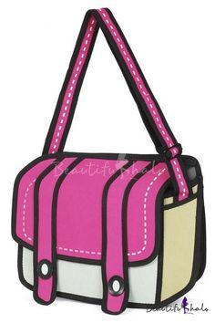 Women Cute Color Block Cross Body Shoulder Bag