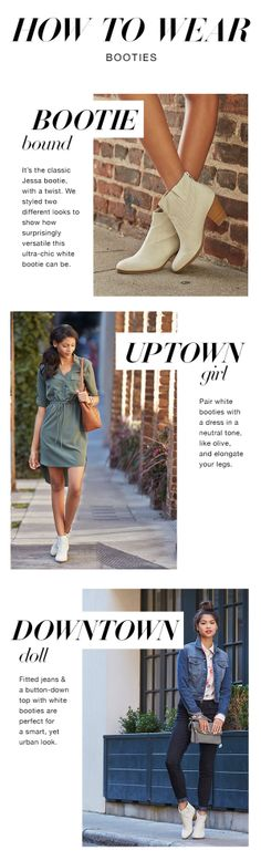 Versatile booties for whether you're an uptown girl or downtown bound.