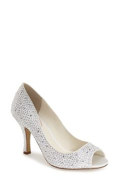 pink paradox london 'Celebrate' Peep Toe Pump (Women) available at #Nordstrom (Also @ David's Bridal, same price)