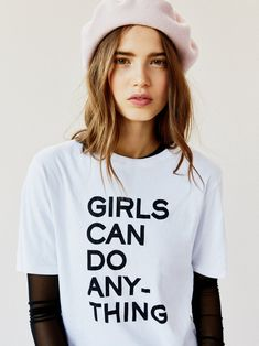 Zadig & Voltaire White Girls Can Do Anything Tee at Free People Clothing Boutique