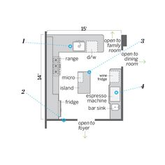 Floor Plan: Ian Worpole   thisoldhouse.com   from Small Changes Equal Big Improvements in a Kitchen Space