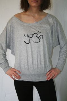 Yoga Off Shoulder Tee Also available in Neon Pink Can be purchased on Etsy at belightclothing