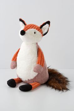 Cuddlesome Fox from Anthropologie. Would be a cute stuffed animal for my niece and nephew.