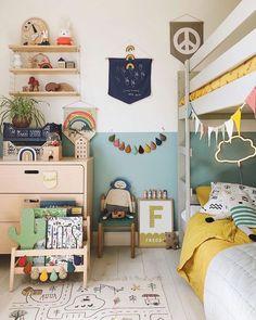 Girl Room, Girls Bedroom, Bedroom Decor, Kids Bedroom Paint, Room Boys, Ideas Habitaciones, Baby Boy Rooms, Kids Rooms, Toddler Rooms