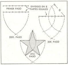 Para dibujar una estrella de cinco puntas - Mi Mecánica Popular