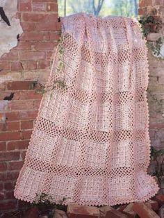 Crochet - Afghans - Assorted - Pastel Bricks Afghan - #FC00068
