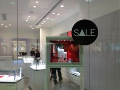 "Swarovski Hong Kong ""sale"" window display - Jan 2013"