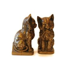 Vintage Brass Cat Bookends by FlumeStreet on Etsy, $58.00