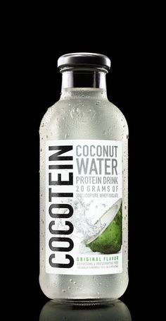 <b>COCONUT WATER + ISOPURE PROTEIN</b><br>Take pure whey protein isolate. Add body-boosting protein benefits and tastebud-loving coconut refreshment. Now that's one seriously smart formula. Water Packaging, Beverage Packaging, Bottle Packaging, Food Packaging, Packaging Design, Product Packaging, Label Design, Best Nutrition Food, Health And Nutrition