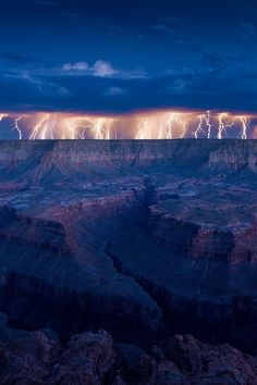 Lightning storm at the Grand Canyon.I want to visit here one day.Please check out my website thanks. www.photopix.co.nz