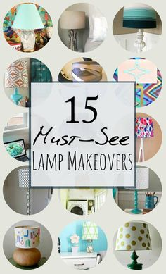 If you feel like a room could use a makeover, all you need to do is switch up your lamp. These 15 DIY lamp makeovers will help transform your space! Lamp Redo, Lamp Makeover, Diy Design, Diy Dream Catcher, Design Your Own Home, Painting Lamps, Contemporary Floor Lamps, Diy Holz, Diy Home Decor Projects
