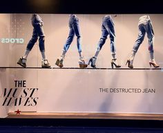 """MACY'S, (The Must Haves), """"The Destructed Jean"""", pinned by Ton van der Veer"""