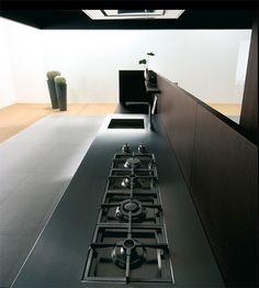 This layout is so smart! Binova Modus kitchen - cooktop