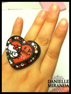 I Heart Kitty Nerds Kawaii Lolita Resin Heart by DANIELLEMIRANDA, $32.00