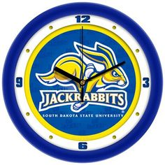 NCAA South Dakota State Jackrabbits Dimension Wall Clock