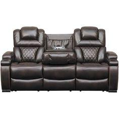 Gladiator Dual Power Reclining Sofa Basement Reclining