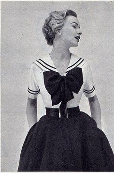 Vintage sailor dress. So cute.