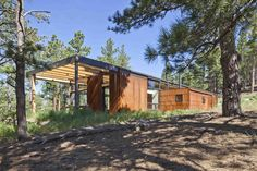 Dynia Architects is an architecture, planning and interior design firm with offices in Jackson Hole and Denver. Residential Architecture, Modern Architecture, Denver, Steel Cladding, Weathering Steel, Colorado Mountains, House In The Woods, Bouldering, House Design