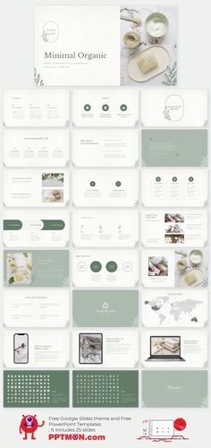 Minimal Organic Free Presentation Design for PowerPoint Template and Google Slides theme