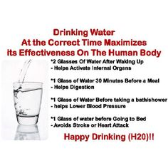 Water is a healing element for our bodies, these tips give us an extra incentive to drink water through out the day! (photo from Facebook General Knowledge)