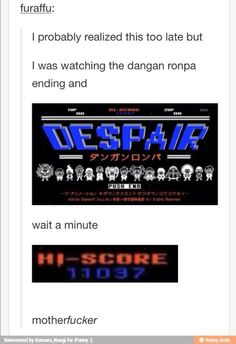 Nooooooooo, only danganronpa fans know it 😂😂😂 Baguio, Danganronpa Memes, Trigger Happy Havoc, Lol, Ding Dong, All Games, Wattpad, Me Me Me Anime, Hetalia