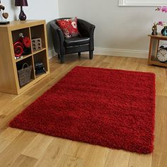 Ontario Soft Pile Anti Shedding Wine Red Shaggy Rug - Available in 14 Sizes The Rug House http://www.amazon.co.uk/dp/B00WG8R2HS/ref=cm_sw_r_pi_dp_Gfe8vb0N67TKF