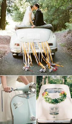 5 Tips to Pick the Perfect Wedding Car. Click for tricks and tips to find your perfect wedding ride. #wedding #cars