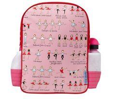Tyrrell Katz Ballet Backpack From Lovely backpack with 2 convenient side pockets and padded adjustable shouder straps for comfort. Girl Backpacks, School Backpacks, Little Girl Fashion, Kids Fashion, Dance Outfits, Kids Outfits, Ballet Bag, Dance Accessories, Dance Gifts