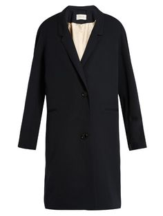 Lemaire Single-breasted wool-gaberdine coat