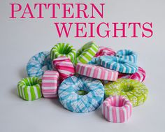 ribbon covered washers and bolts for pattern weights!