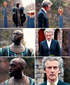The Doctor can be a man of few words but he gets his point across.