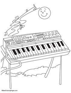 Synthesizer Coloring Pages Download Free Synthesizer Coloring Pages For Kids Coloring Pages Coloring Pages For Kids Color