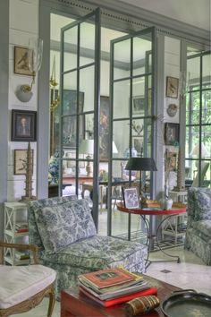 Look at those interior french doors, love the non-traditional way the open!