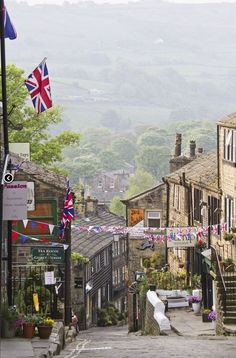Haworth in Yorkshire, England, made famous by the Bronte sisters who lived here and were inspired by the beautiful moorland scenery surrounding the village.