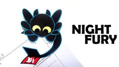 How to Make a Dragon for kids-Train Your Dragon Bookmark-Toothless Night. Toothless Night Fury, Night Fury Dragon, Toothless Dragon, Bookmarks Kids, How To Make Bookmarks, How To Train Your, How Train Your Dragon, Diy Paper, Paper Crafts