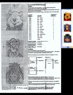 This is a pattern of the Pooh and friends bookmark of Designer Stitches (01-1999) that is no longer for sale.