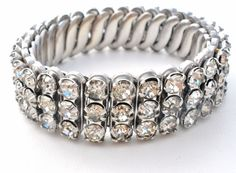 Clear Rhinestone Expansion Bracelet Child's Junior Prong Set Vintage Jewelry   Jewelry & Watches, Vintage & Antique Jewelry, Costume   eBay!