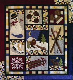 """Winter Memories"" quilt pattern by Kristine D. Poor, Poorhouse Designs"