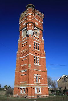Littlestone, Nr. Dungeness, Kent, England  victorian water tower